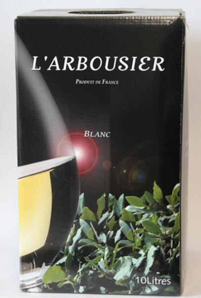 L'ARBOUSIER IGP PAYS D'HERAULT. - B.I.B. van 10 liter BLANC