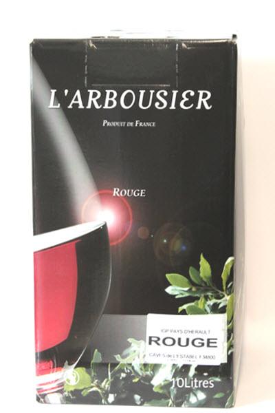 L'ARBOUSIER IGP PAYS D'HERAULT  - B.I.B. van 10 liter ROUGE