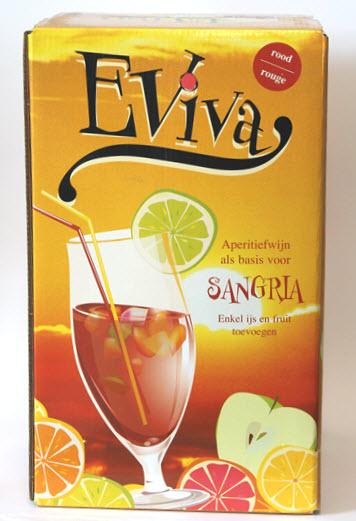 EVIVA SANGRIA ROOD - B.I.B. VAN 10 LITER - 14,5% vol. alc.